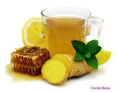 Para los resfrios, Jenjibre, limon y miel.