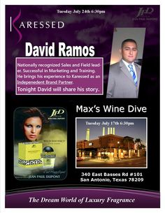 TONIGHT 6:30pm! Mix-N-Mingle at Max's Wine Dive   Guest speaker: David Ramos