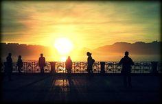 """#SanSebastian #Donostia #Spain """"Bella Easo en Ocaso""""  Foto enviada por: Ainara Martínez Rivera  Lugar: Bahía de la Concha  Fecha: 28 de enero del 2013"""