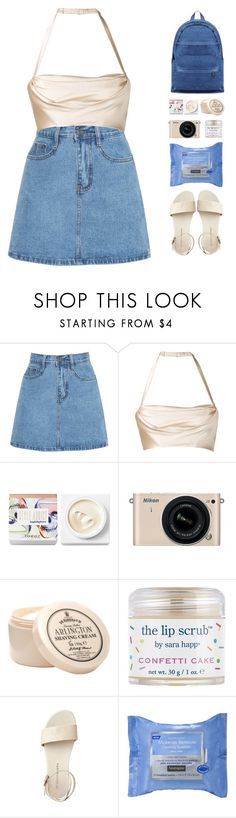 """wish i was there with you now"" by via-m ❤ liked on Polyvore featuring Dolci Follie, Teeez, Nikon, D.R. Harris & Co Ltd., Sara Happ and Neutrogena"