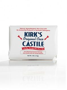 Since 1839, Kirk's Original Coco Castile Soap has given the consumer a high quality, natural soap at an affordable price.     No Animal By-Products  Never Tested on Animals  Hypoallergenic  Biodegradable  No Synthetic Detergents    Ingredients:  Coconut Soap, Water, Vegetable Glycerin, Coconut Oil, Natural Fragrance