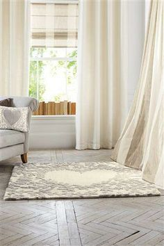 Leafy Heart Wool Rug love this! Interior Design Images, Flat Ideas, Next At Home, Home Living Room, Wool Rug, Interior Inspiration, Home Accessories, Sweet Home, New Homes