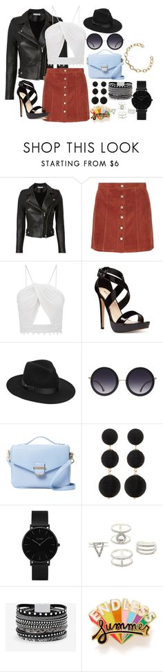 """Classy Badass"" by aestheticallysara on Polyvore featuring IRO, Theory, Nine West, Lack of Color, Alice + Olivia, Cynthia Rowley, Cara Accessories, CLUSE, Charlotte Russe and White House Black Market"