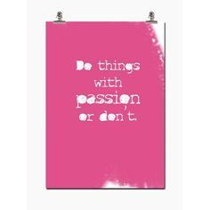 Passion poster i gruppen Posters / Posters / Sitat hos ROOM21.no (109506)