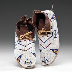 Lot # 310 - Cheyenne Beaded Hide Moccasins