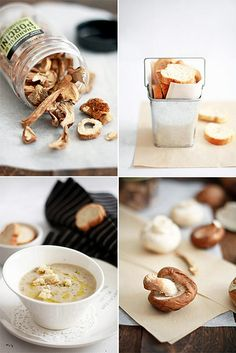 Mushroom Soup With Truffle Oil & Croutons by bossacafez, via Flickr