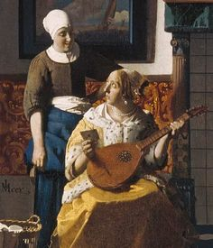 Jan Vermeer van Delft - The love letter cut out from