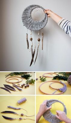 1001 + creative gift ideas for every taste + diy tutorials diytutorial grey dreamcatcher step by step diy tutorial creative birthday ideas for best friend wooden rings dreamcatcher diy tutorial handmade dreamcatcher diy cline lunakim Los Dreamcatchers, Moon Dreamcatcher, Diy Gifts Cheap, Diy Gifts Love, Easy Diy Gifts, Diy And Crafts, Arts And Crafts, Party Crafts, Diy Y Manualidades