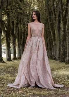 "Rose gold dragonfly gossamer wing-inspired wedding dress by Paolo Sebastian // Beautiful couture wedding gown inspiration from Paolo Sebastian's 2016/2017 Autumn Winter ""Gilded Wings"" collection {Facebook and Instagram: The Wedding Scoop}"