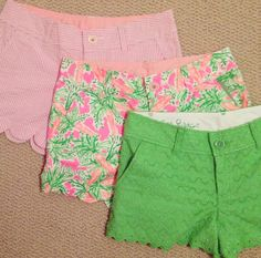 Southern preppy I'm obsessed with the scalloped look! Preppy Outfits, Preppy Style, Style Me, Summer Outfits, Cute Outfits, Summer Shorts, Preppy Girl, Golf Outfit, Preppy Southern