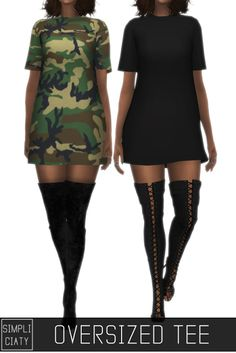 Sims 4 CC's - The Best: OVERSIZED TEE by simpliciaty