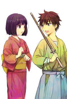 """Rurouni Kenshin - Tsubame Sanjou, Yahiko Myoujin"" - one of the best anime series"
