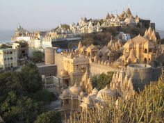 The Palitana temples of Jainism are located on Mount Shatrunjaya, by the city of Palitana, in Bhavnagar district, Gujarat, India.There are more than 1300 temples and shrines located on the Shatrunjaya hills. Every Jain believes that a visit to this group of temples is essential once in a life time to achieve nirvana or salvation.