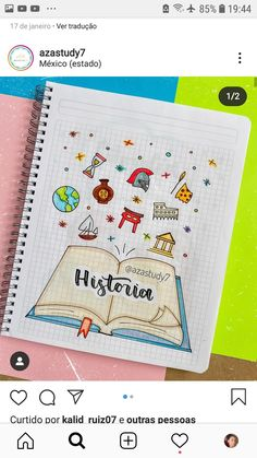 Es muy bonito y fácil de hacer Bullet Journal Banner, Bullet Journal Writing, Bullet Journal Notebook, Bullet Journal Aesthetic, Bullet Journal School, Bullet Journal Ideas Pages, Bullet Journal Inspiration, Creative Lettering, Hand Lettering