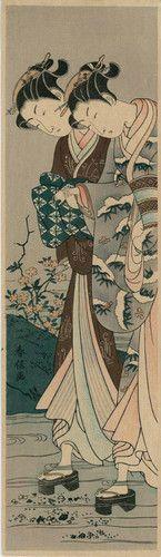 Suzuki Harunobu Japanese Woodblock Print | eBay