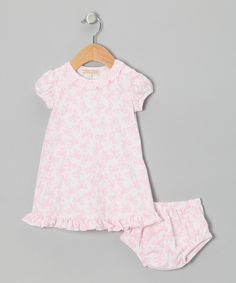 Take a look at this Pink Ribbons Rosey Dress & Diaper Cover - Infant & Toddler on zulily today!