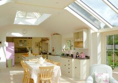 Roof Lantern over kitchen and dining area in this house in Gloucestershire