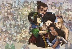 I love how this artwork shows all the main and side characters.