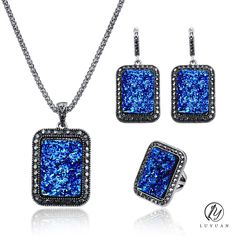 2017 New Arrival Vintage Broken Resin Stone Women Jewelry Sets Antique Silver Crystal Square Pendant Earrings Necklace Sets 20%  / // Price: $US $3.99 & FREE Shipping // /  Buy Now >>>https://www.mrtodaydeal.com/products/2017-new-arrival-vintage-broken-resin-stone-women-jewelry-sets-antique-silver-crystal-square-pendant-earrings-necklace-sets-20/  #Best_Buy