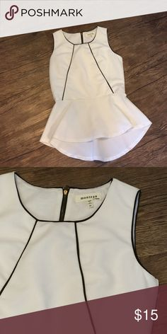 White tank Never worn, doesn't fit so cannot model.  absolutely NO TRADES Reasonable offers only considered through the 'make an offer' option  NO OUTSIDE TRANSACTIONS Monteau Tops Tank Tops
