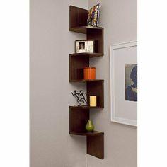 Large Corner Shelf- Walnut Finish on Wanelo