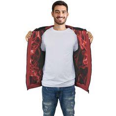 Black & Red Smoke Zip Hoodie – This is iT Original Red Smoke, Zip Hoodie, Zipper, Hoodies, Black, Style, Swag, Sweatshirts, Black People