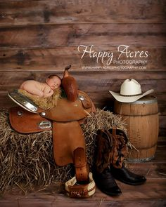 Happy Acers photography  #Waylon carter # my saddle # daddy's hat  # sweet baby boy (: