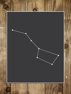 Big Dipper Constellation Art Print . Outer Space by alphonnsine
