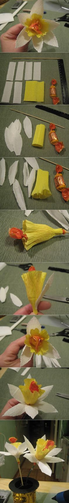 A great favor for the paper bride! DIY Narcissus Flower Chocolate DIY Narcissus Flower Chocolate