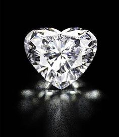 56.15 ct. Heart Diamond, sold at Kristie's auction for 10.9 million dollars, May 2011, the highest price for a heart shaped diamond.