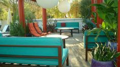 Outdoor lounge, The Parker
