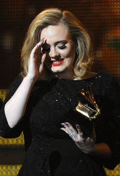 Adele at the Grammys.  Was at the Grammy's when she won last year.    Great event.