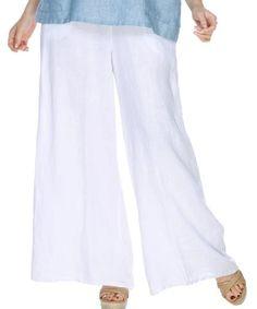 Match Point Medium Weight Linen Wide Leg Palazzo Pants LP70 – Lori's Lovelies Womens Linen Clothing, Match Point, Wide Leg Palazzo Pants, Linen Pants, Dress Codes, Elastic Waist, Legs, Fabric, Medium