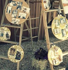 Fabric Embroidery Hoop to Display Photos
