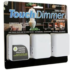 SUPERSWITCH™ 3-PACK TOUCH DIMMERS - eCrater Stores Network