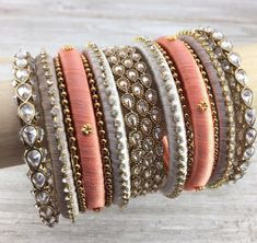 61 Ideas for jewerly bracelets pandora style Silk Thread Bangles Design, Silk Bangles, Bridal Bangles, Thread Jewellery, Bridal Jewelry, Silver Bracelets, Silver Ring, Bangle Bracelets, Silver Jewelry