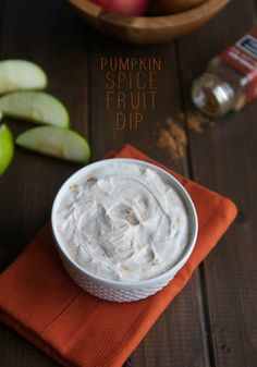 Pumpkin Spice Fruit Dip-perfect with apples and only 3 ingredients!