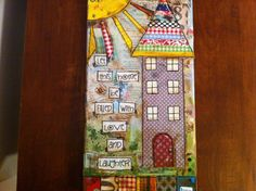7x14 Mixed media canvas Let this home be by heartfeltByRobin, $55.00
