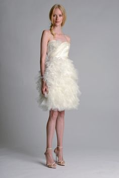 Flirty, girlie, beautiful from Marchesa's Fall 2014 bridal collection.