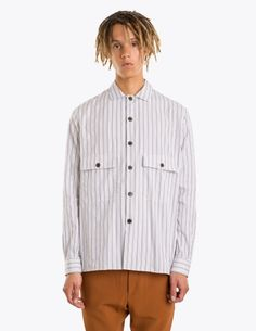 Cmmn Swdn - Levy Striped Shirt White | TRÈS BIEN