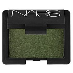NARS - Single Eye Shadow in Night Porter - black with green pearls  #sephora