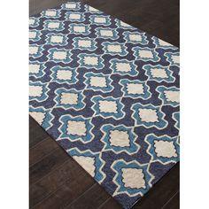 Jaipur Rugs Catalina Blue/Ivory Geometric Indoor/Outdoor Area Rug & Reviews | Wayfair