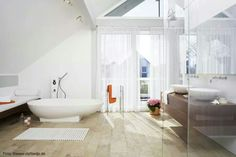 Light bathroom and relax