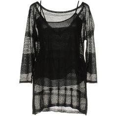 Archivio B Jumper (95 AUD) ❤ liked on Polyvore featuring tops, sweaters, black, lightweight sweaters, three quarter sleeve tops, jumper top, 3/4 length sleeve tops and 3/4 sleeve sweaters