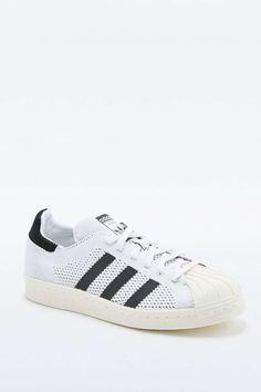 """adidas Originals – Weiße Sneaker """"Superstar"""" in gestrickter Optik"""