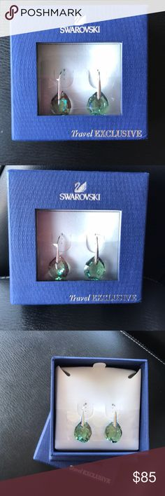 Brand New SWAROVSKI Enlumine Pierced Earrings. Travel EXCLUSIVE collection. Product description : This pair of rhodium-plated pierced earrings have erinite crystals that are elegant and refreshing. It gives subtle glamour to your outfit. Wear them in the day or on a night out. Swarovski Jewelry Earrings