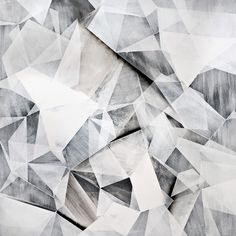 Chalky Geometric Pattern - graphic monochromatic surface pattern design inspiration // Russell Leng
