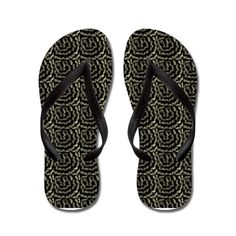 57d0deed2d819d texture Flip Flops on CafePress.com