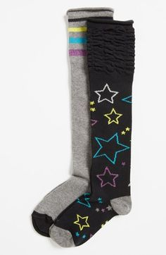 Nordstrom 'Roller Girl' Knee High Socks (2-Pack) (Toddler Girls, Little Girls & Big Girls) | Nordstrom