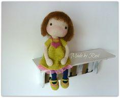 Muñecos de ganchillo amigurumi muñeca Stephanie por por RusiDolls